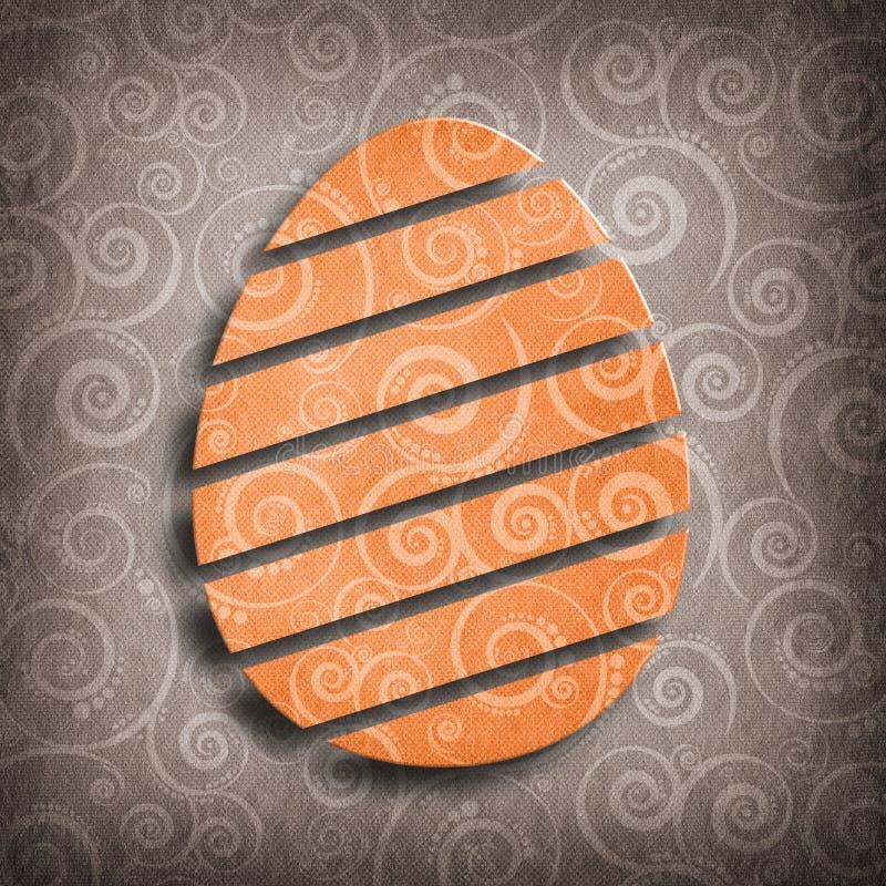 Petterned kształt Wielkanocny jajko ilustracji