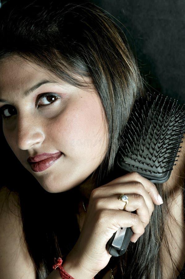 Pettinatura dei capelli fotografie stock libere da diritti