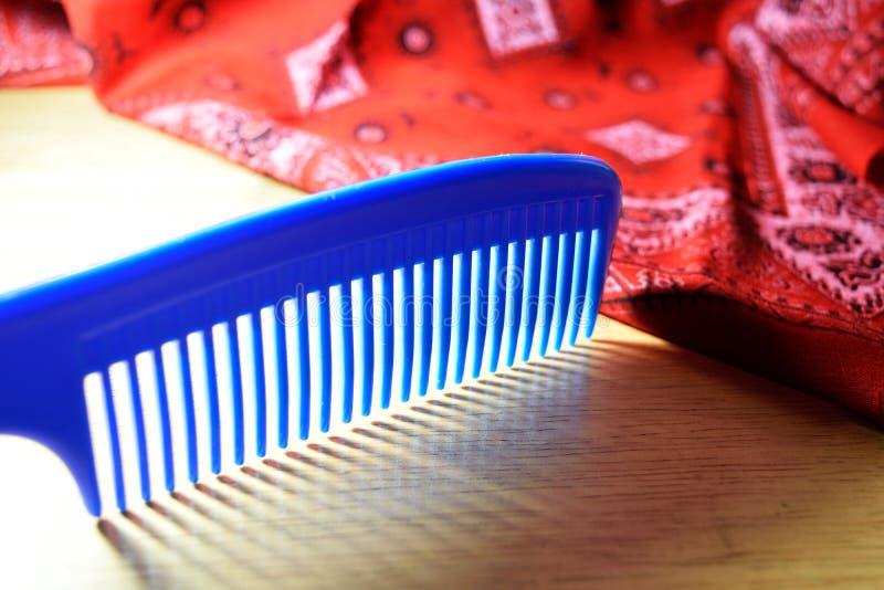 Pettine blu fotografia stock libera da diritti
