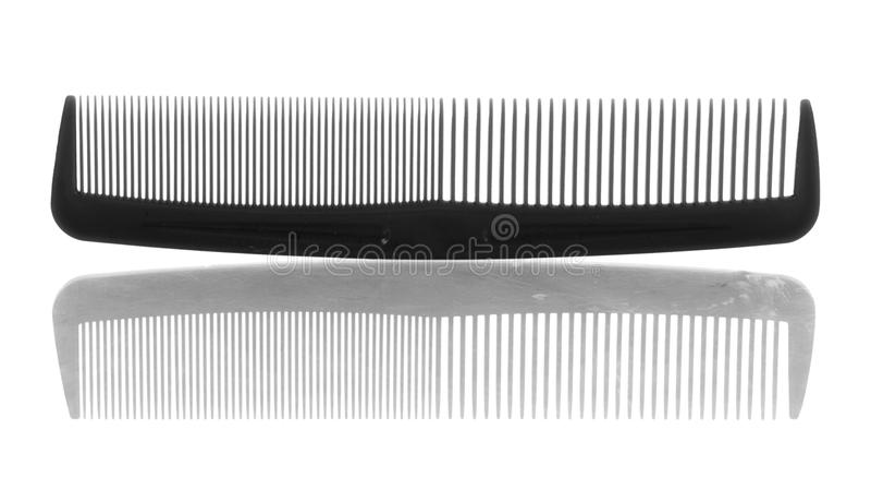 Pettine di plastica dei capelli fotografia stock libera da diritti