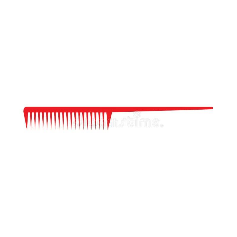 Pettini l'attrezzatura femminile di taglio di capelli di simbolo di stile di modo Bello sano dello strumento professionale Icona  illustrazione di stock