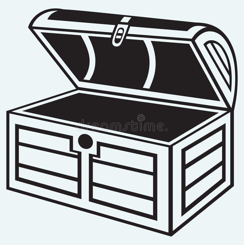Petto di legno d'annata illustrazione di stock