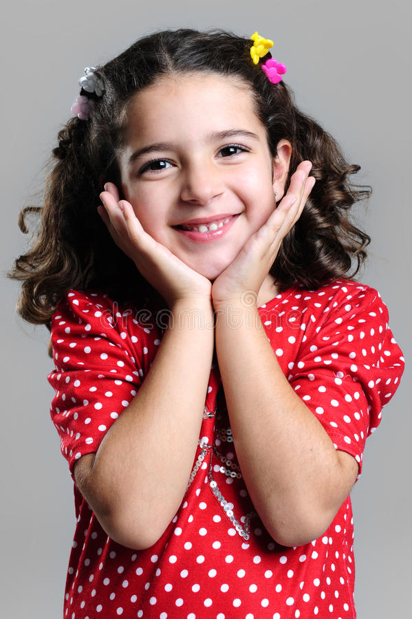 Petty smiling girl stock photography