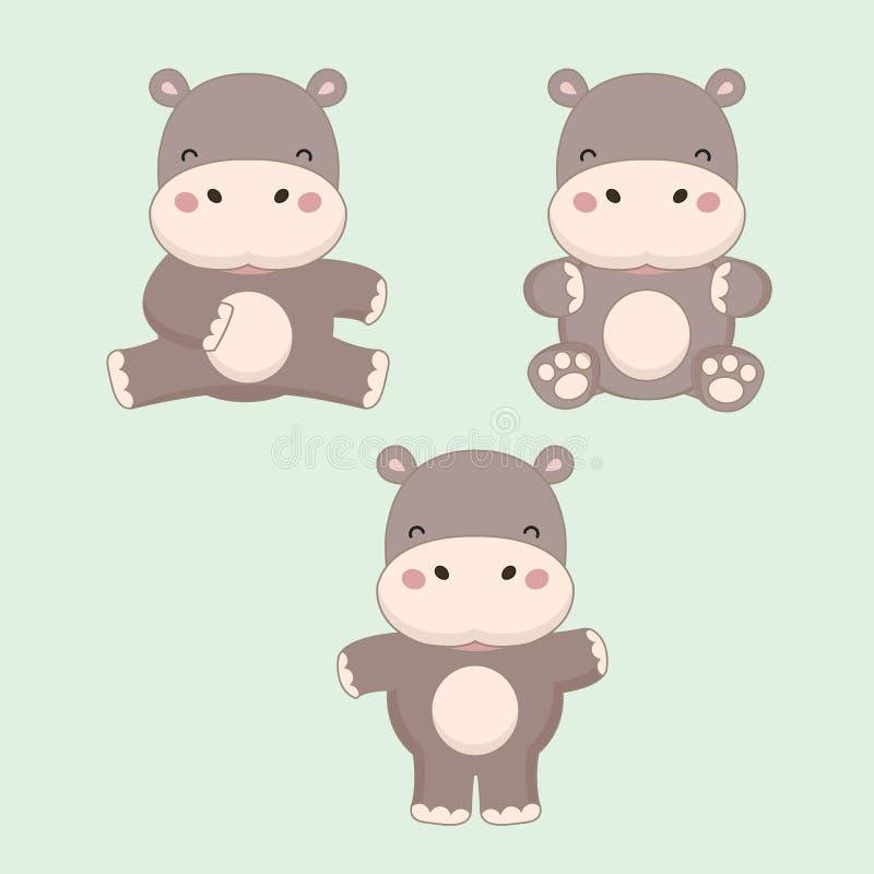 Peu bande dessin?e d'hippopotame Illustration de vecteur illustration libre de droits