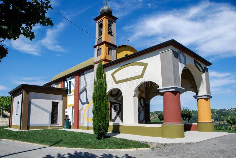 Peu d'église de Coazzolo, Piémont - Italie photos libres de droits