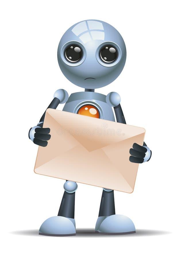Peu d'enveloppe de prise de robot illustration libre de droits