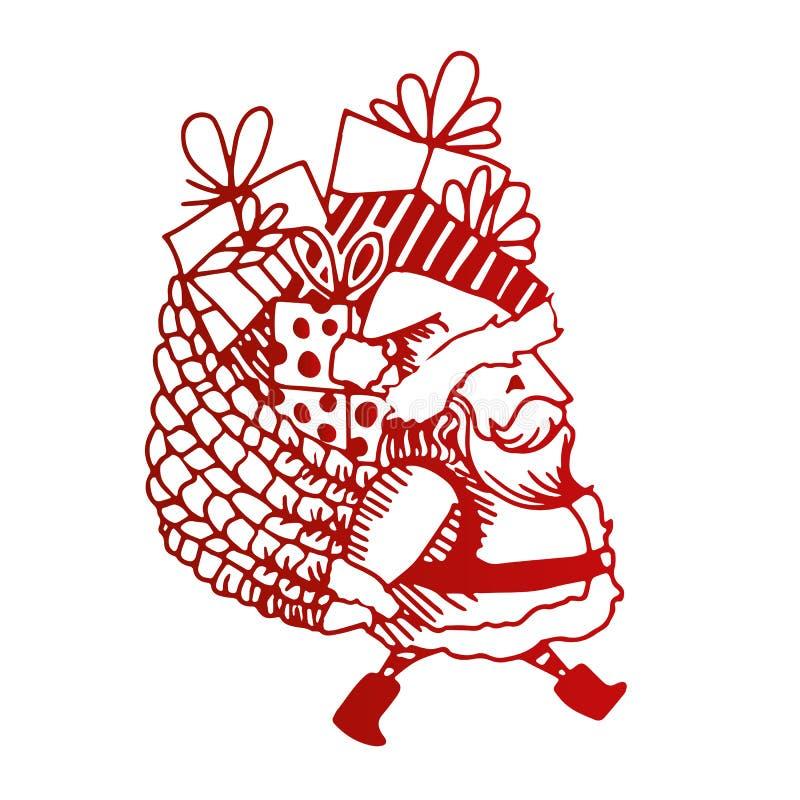 Peu d'illustration de Santa illustration de vecteur