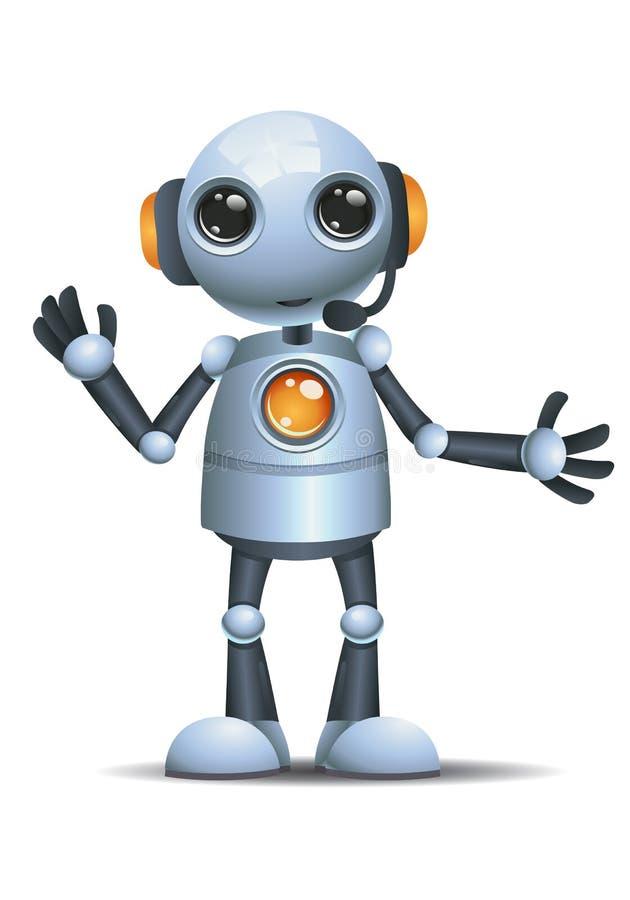 Peu d'opérateur de service d'appel de robot illustration stock