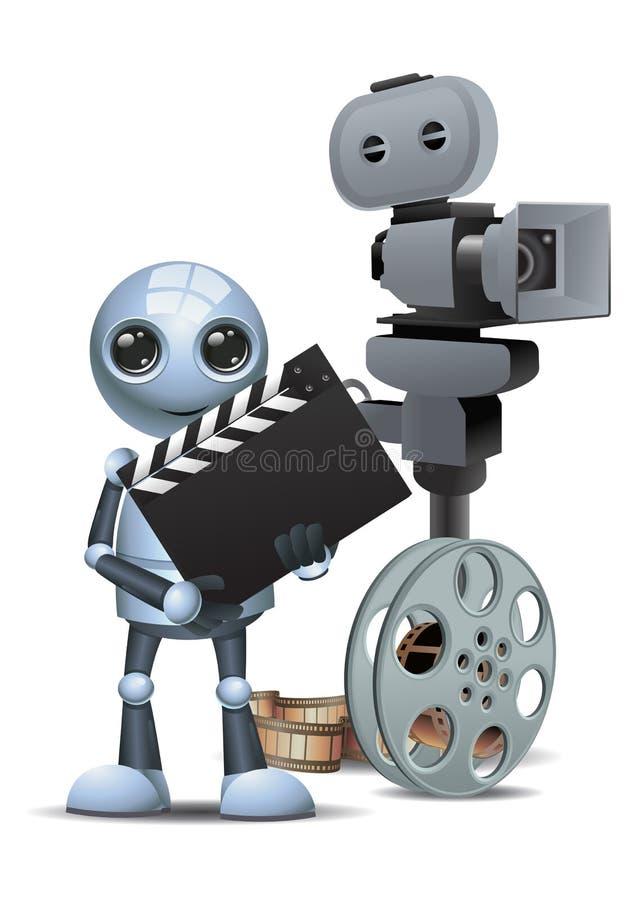 Peu d'outil de film de prise de robot illustration de vecteur