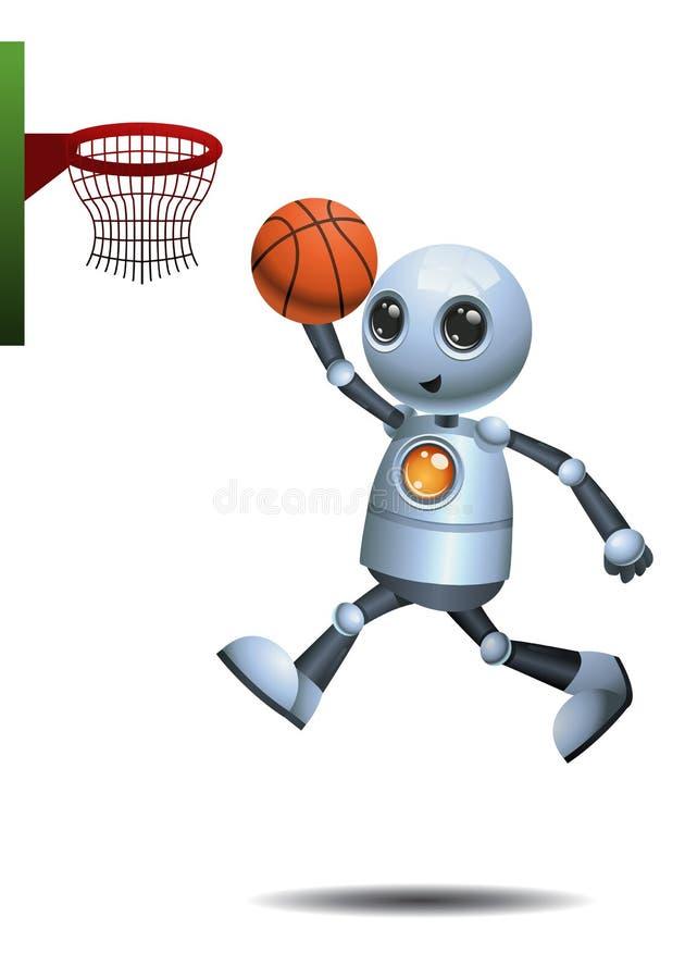 Peu de boule de panier de jeu de robot illustration libre de droits