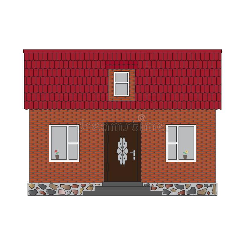 Peu de brique de maison illustration de vecteur