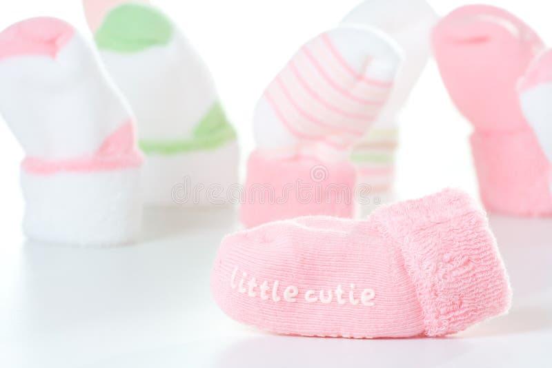 Peu de chaussettes de cutie photos stock