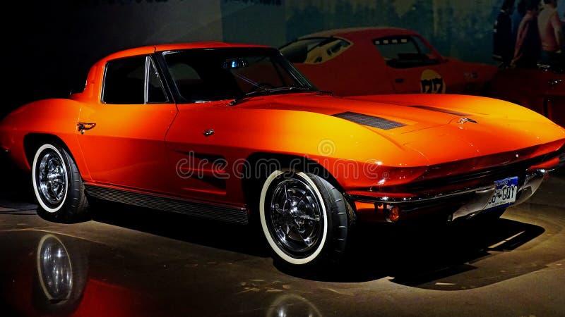 Peu de Corvette rouge image libre de droits