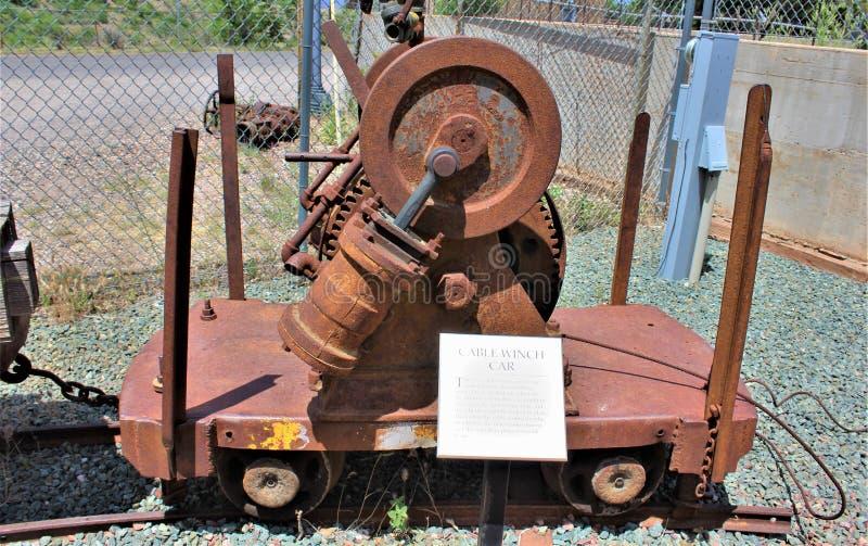 Peu de Daisy Mine, Audrey Shaft Head Frame, Jerome, Arizona, Etats-Unis photographie stock libre de droits