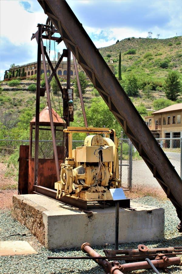 Peu de Daisy Mine, Audrey Shaft Head Frame, Jerome, Arizona, Etats-Unis images libres de droits