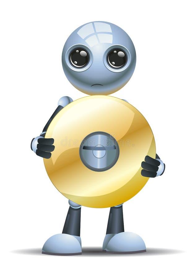 Peu de disque de dvd de prise de robot illustration de vecteur