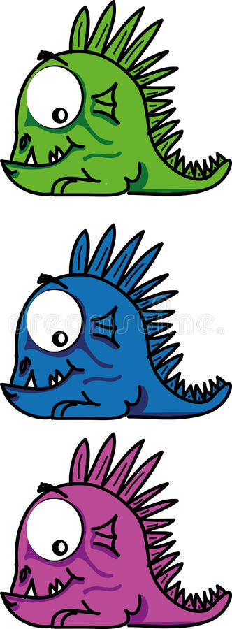 Peu de dragon illustration de vecteur