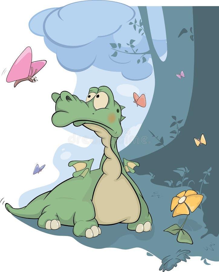 Peu de dragon et guindineaux illustration stock