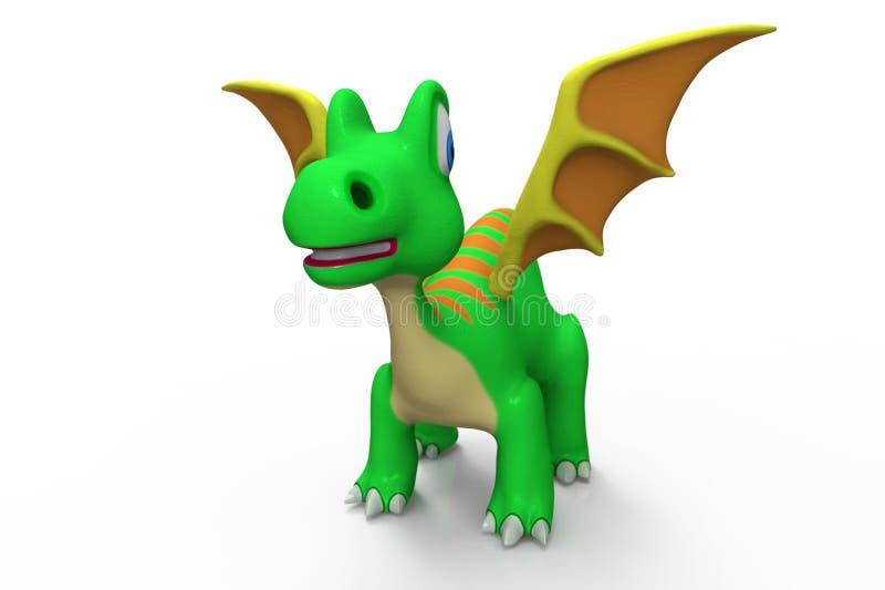 Peu de dragon vert illustration libre de droits