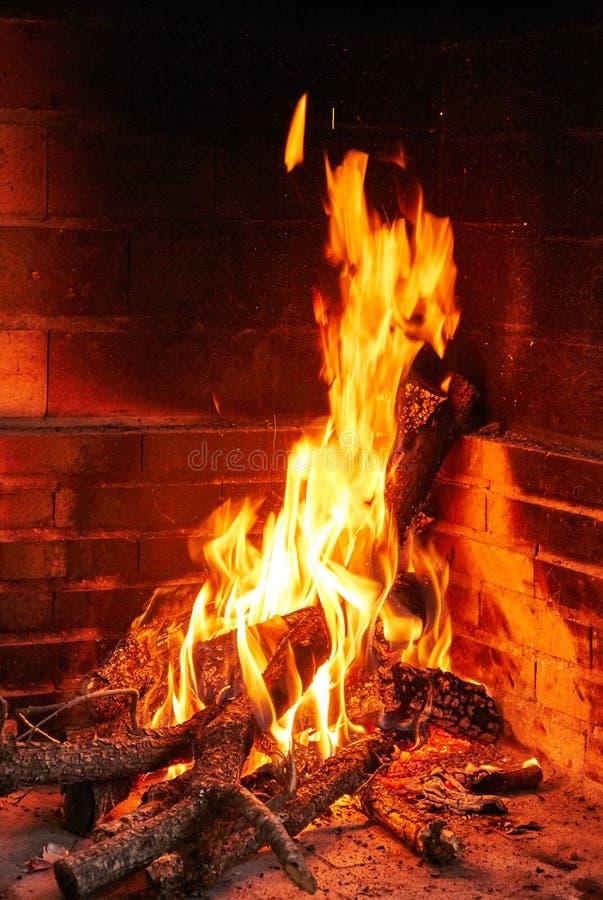 Peu de feu de camp pour un BBQ photographie stock
