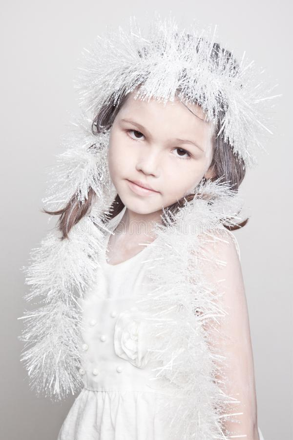 Peu de fille de neige photo stock