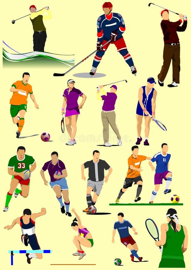 Peu de genres de sport illustration stock