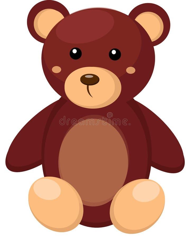 Peu de jouet d'ours de nounours illustration libre de droits