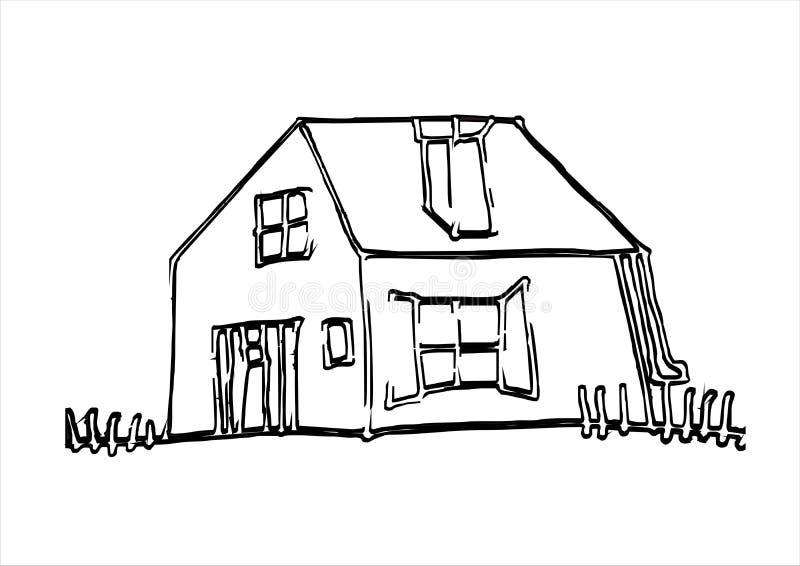 Peu de maison illustration stock