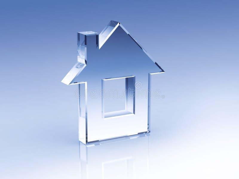 Peu de maison en verre illustration de vecteur
