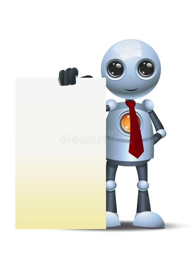 Peu de panneau géant de liste de contrôle de prise de robot illustration de vecteur