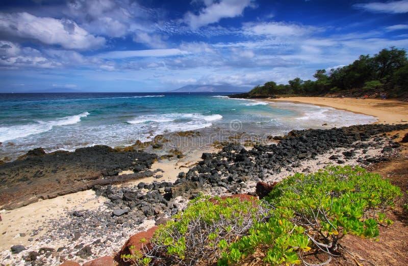Peu de plage de parc d'état de plage de Makena, image libre de droits
