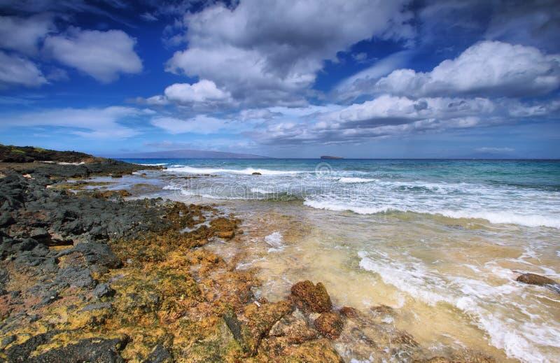 Peu de plage de parc d'état de plage de Makena, photographie stock libre de droits