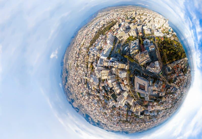 Peu de plan?te Vue aérienne de Limassol en centre ville cyprus illustration stock
