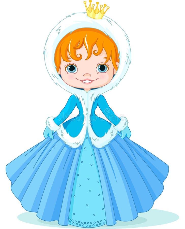 Peu de princesse d'hiver illustration libre de droits