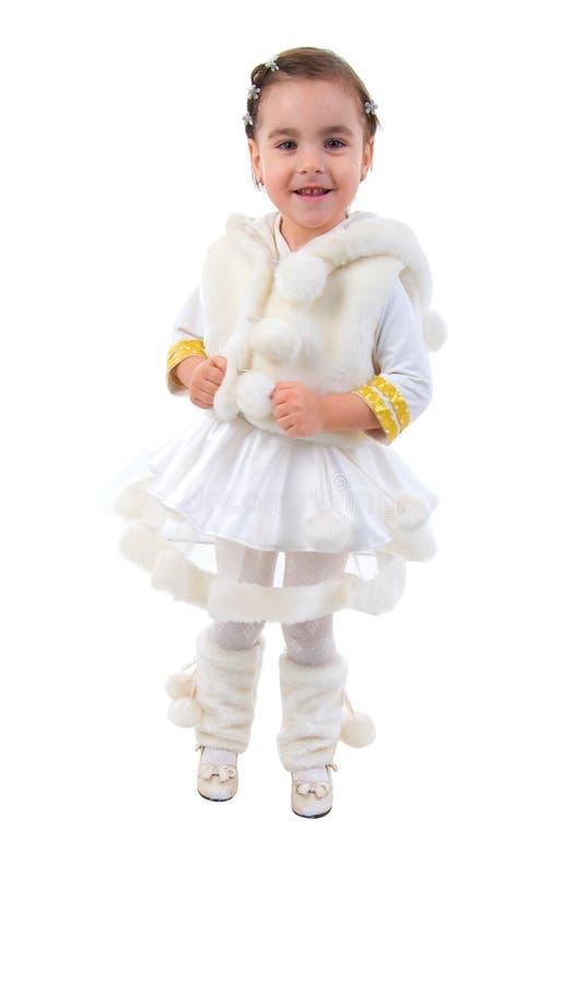 Peu de princesse de l'hiver. image stock