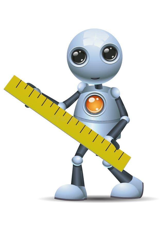Peu de règle de prise de robot grande illustration stock