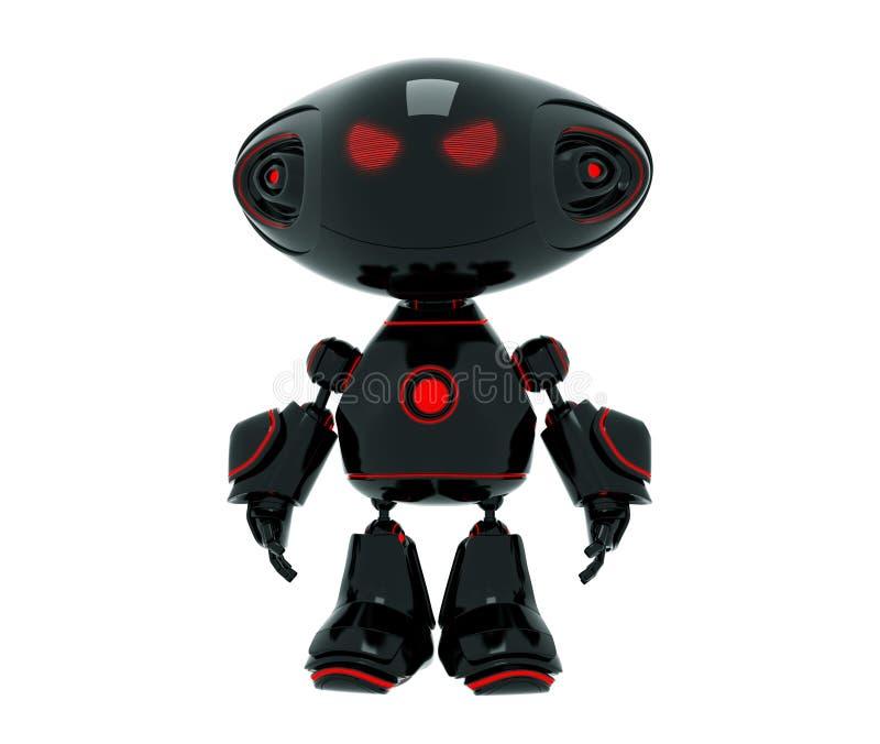 Peu de robot fâché de dessin animé illustration libre de droits