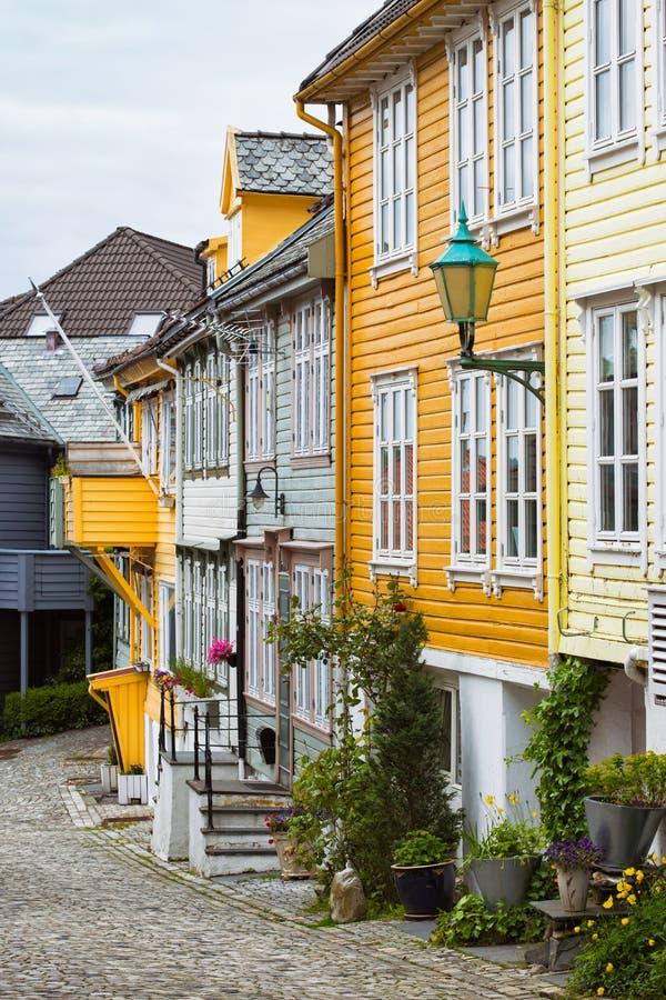 Peu de rue à Bergen image libre de droits