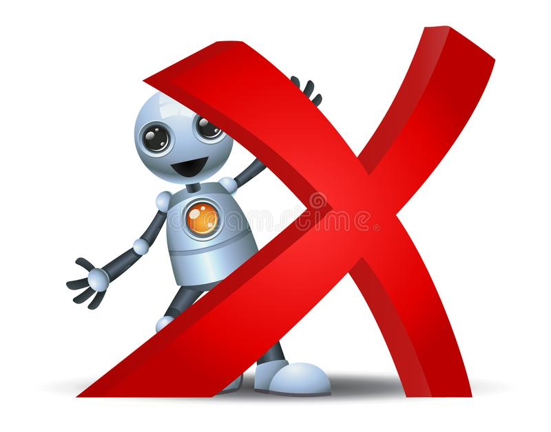 Peu de symbole de croix de prise de robot illustration de vecteur