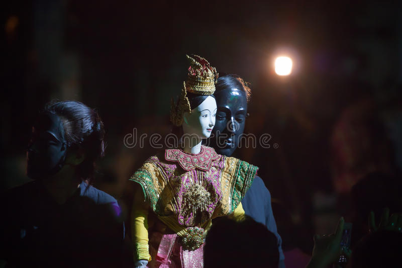 Peu de théâtre thaï de marionnette. photographie stock libre de droits