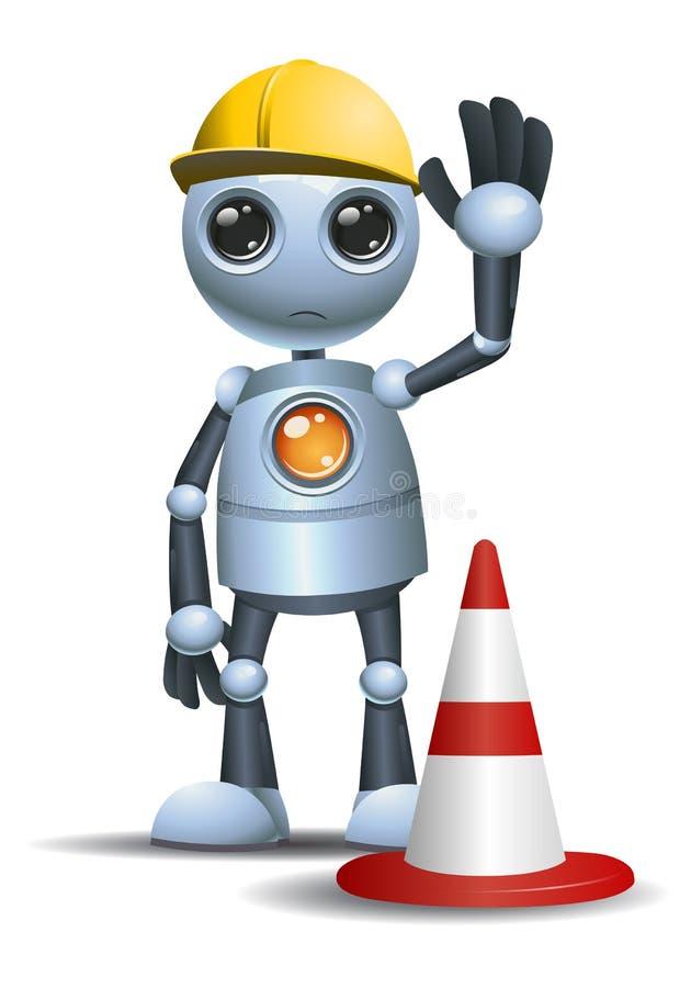 Peu de travailleur pratique de robot illustration de vecteur