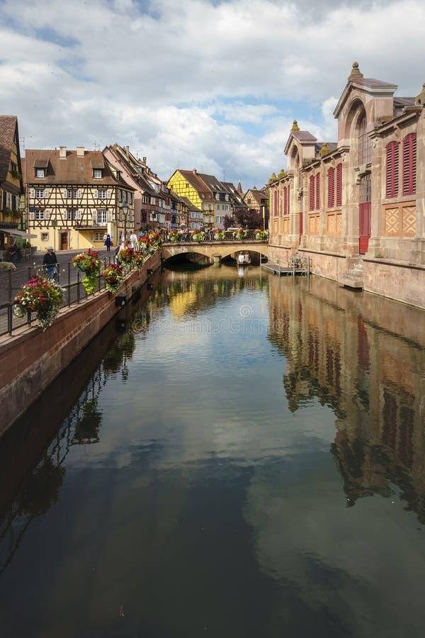 Peu de Venise à Colmar photo stock
