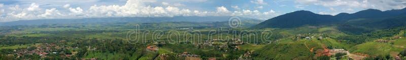 Peu de vue panoramique de ville image libre de droits
