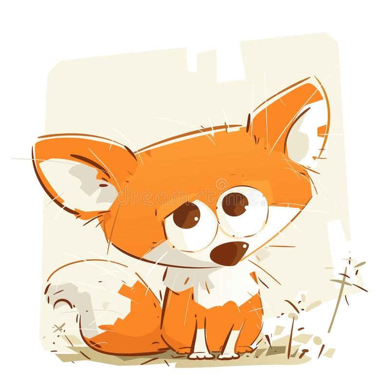 Peu Fox de bébé illustration stock