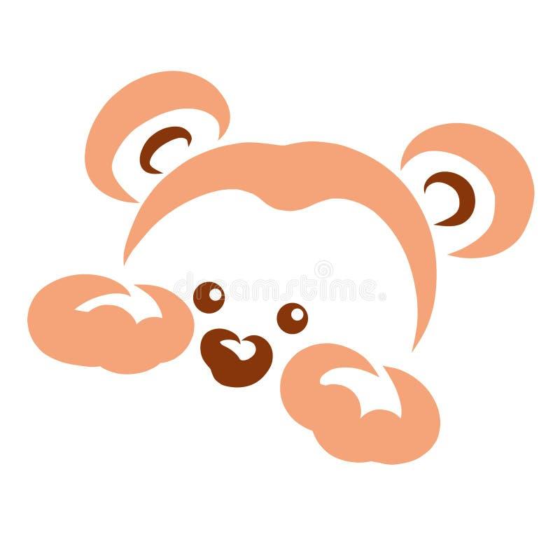 Peu piaulements, tête et pattes mignons de petit animal d'ours illustration libre de droits