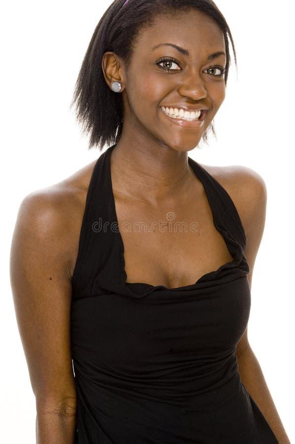 Download Peu robe noire image stock. Image du verticale, personne - 741189