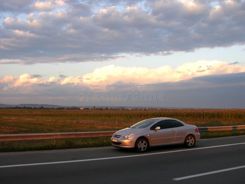 Peugeot 307 CC. Peugeot 307 Coupe Cabrio (Dusk Light). Removed Logo stock photos