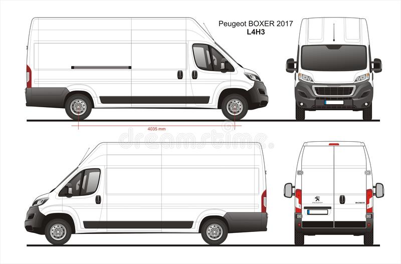 peugeot boxer cargo delivery van 2017 l4h3 blueprint. Black Bedroom Furniture Sets. Home Design Ideas