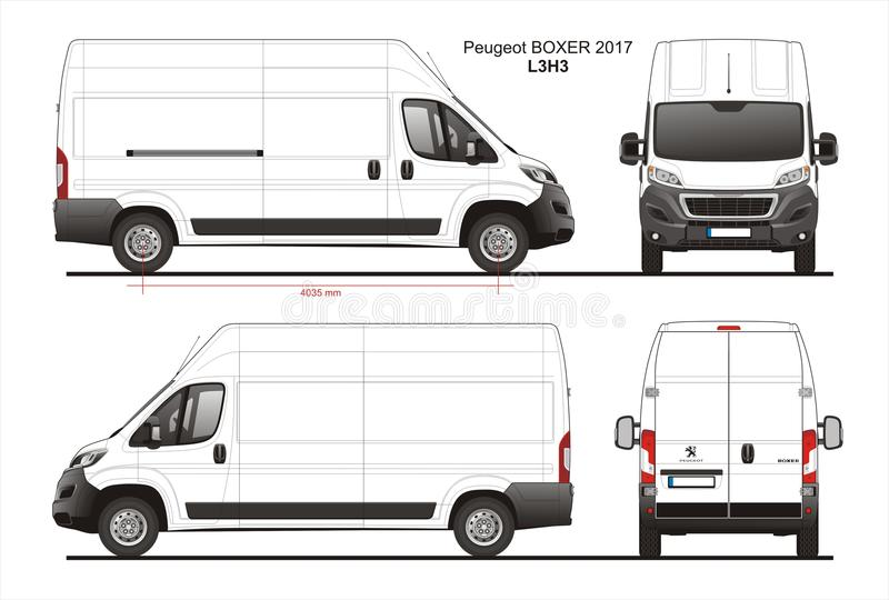 peugeot boxer cargo delivery van 2017 l3h3 blueprint editorial image illustration of peugeot. Black Bedroom Furniture Sets. Home Design Ideas
