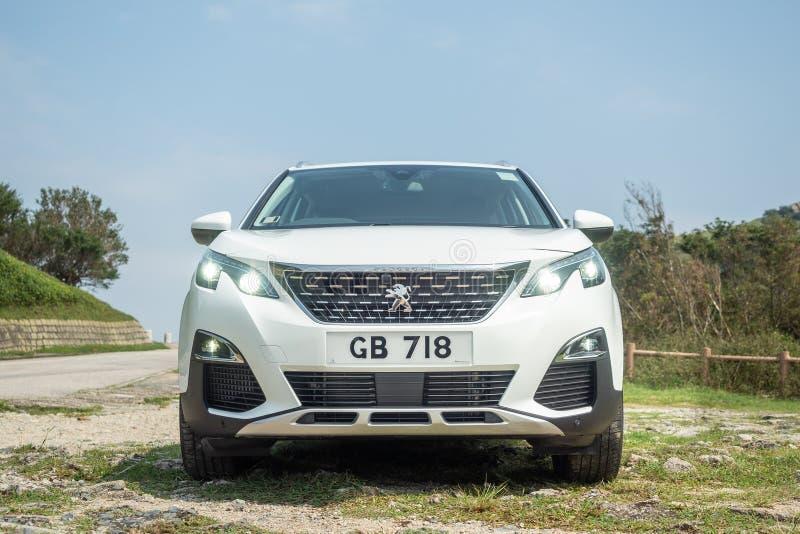 Peugeot 3008 día de 2018 pruebas de conducción imagenes de archivo
